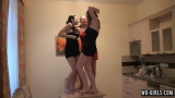 girls dancing on the table