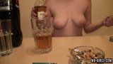 topless drinking